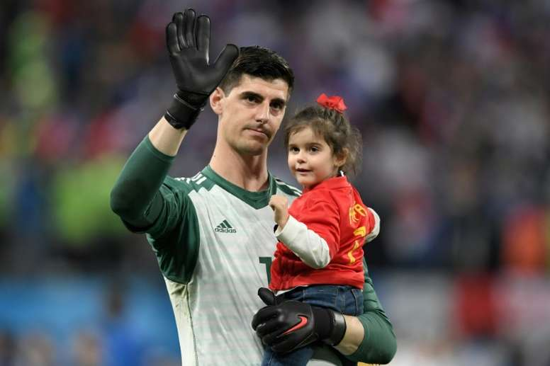 Courtois is looking to force a move away. AFP