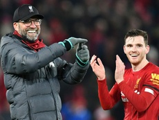 Liverpool's Robertson praises 'father figure' Klopp. AFP