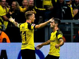 Reus gave Dortmund two of their goals in their 4-1 win over RB Leipzig. AFP