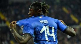 Kean a faillit louper la Juventus à cause d'un tracteur. AFP