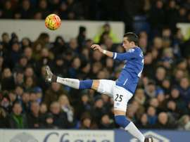 Evertons defender Ramiro Funes Mori, pictured on February 3, 2016, scored as Everton beat Aston Villa on March 1, 2016