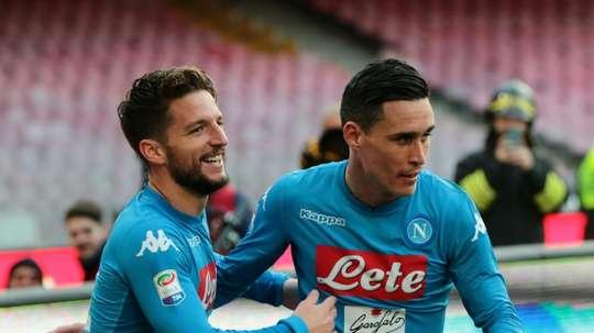Naples veut garder Mertens et Callejon. AFP