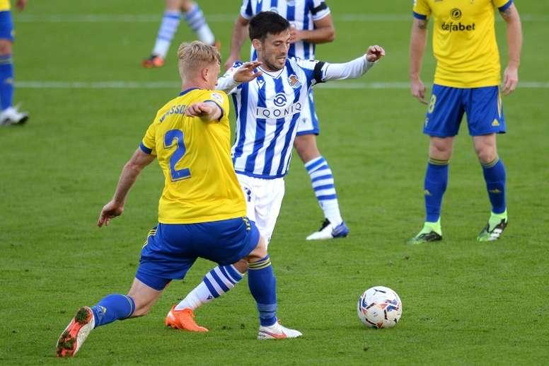 David Silva has helped Real Sociedad to the top in La Liga. AFP