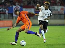 Patrick van Aanholt is happy at Crystal Palace. AFP