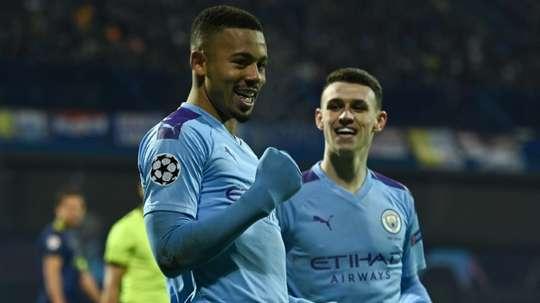 Jesus hat-trick lifts Man City's mood in Zagreb. AFP
