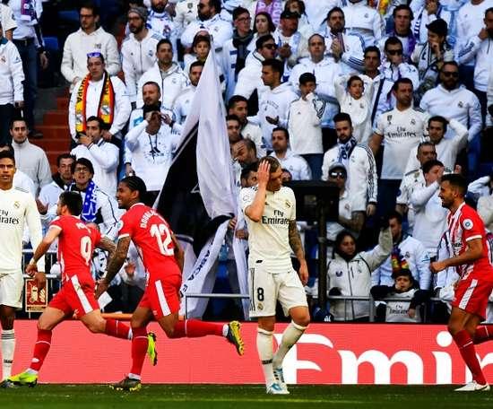 O Girona esvazia o Bernabéu. AFP