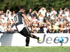 Dybala scored twice in 3-1 win over the team's youth B team. AFP