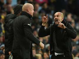 Guardiola a félicité Bristol. AFP