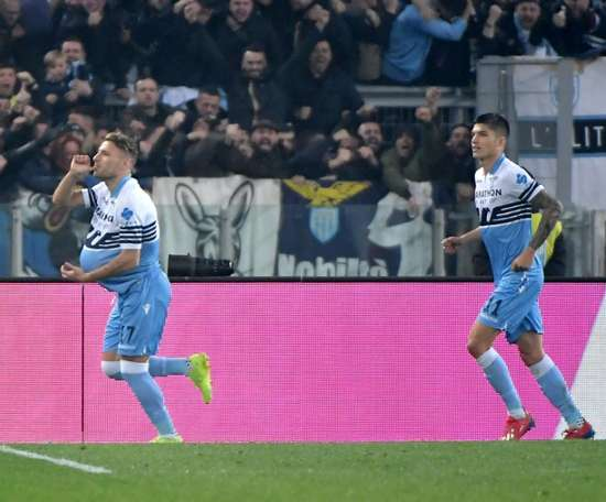 Roma were humliated by Immobile and Lazio. AFP