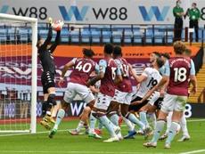 Sheffield United were denied a goal after a GLT and VAR error. AFP