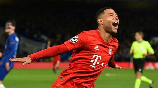 Serge Gnabry starred in Bayern's comprehensive victory at Stamford Bridge. AFP