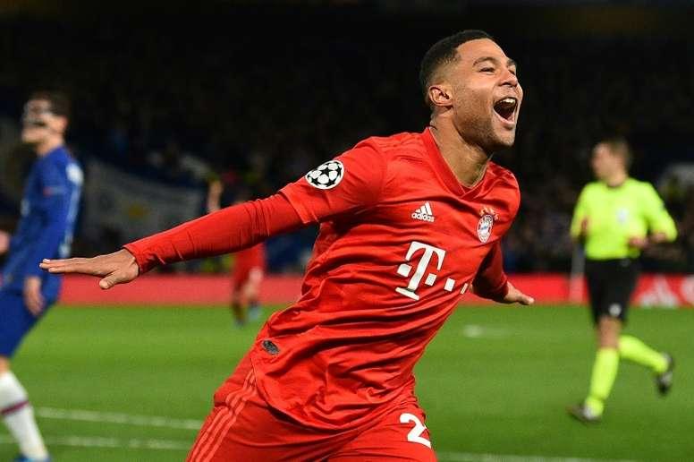 Serge Gnabry starred in Bayern's comprehensive victory at Stamford Bridge. AFP