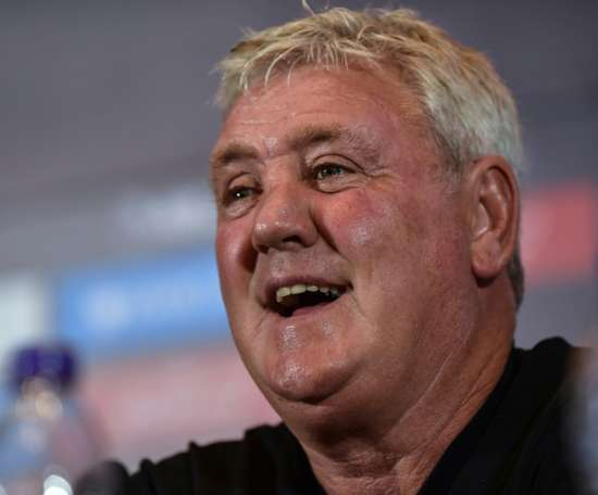 Bruce firmly defended his managerial record in a fiery opening presser as Newcastle manager. AFP