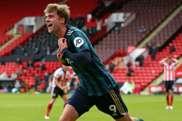 Patrick Bamford celebrates after scoring against Sheffield United. afp_en