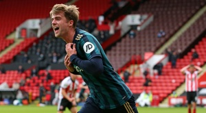 Patrick Bamford celebrates after scoring against Sheffield United. afp_en