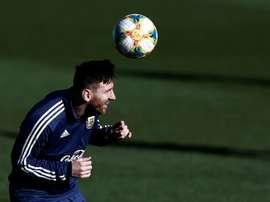 Messi seguirá tentanto pela seleção apesar do púbis. AFP