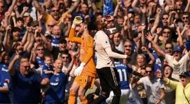 Gary Neville très énervé contre Manchester United. AFP