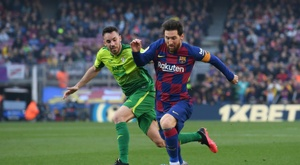 Messi hit four in Barcelona's thumping win over Eibar. AFP