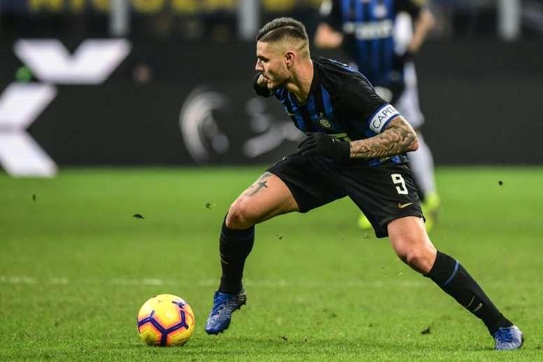 El Inter le quita la capitanía a Icardi. AFP