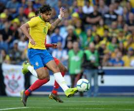 Lucas Paqueta scored his first ever goal for Brazil. AFP