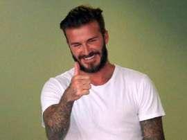 David Beckham podría haber encontrado el nombre para su equipo. AFP