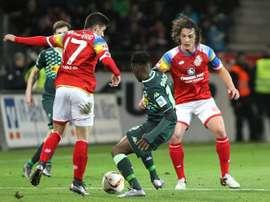 Jairo y José Rodríguez, transferibles en el Mainz 05. AFP