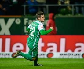 Fin Bartels logró un doblete en el partido ante el Sttutgart. Archivo/EFE/AFP