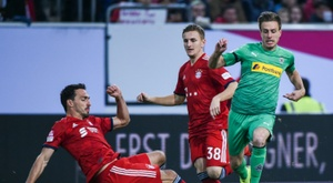 Bayern needed penalties to edge past Gladbach. GOAL