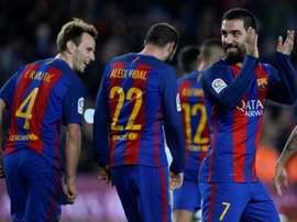 Arda Turan, auteur d'un triplé avec le FC Barcelone mercredi soir en Coupe du Roi. AFP