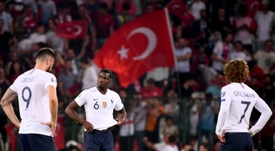 France limped to a disappointing defeat in Turkey. AFP