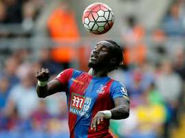 Crystal Palace's Pape Souare controls the ball during a match against Arsenal. AFP