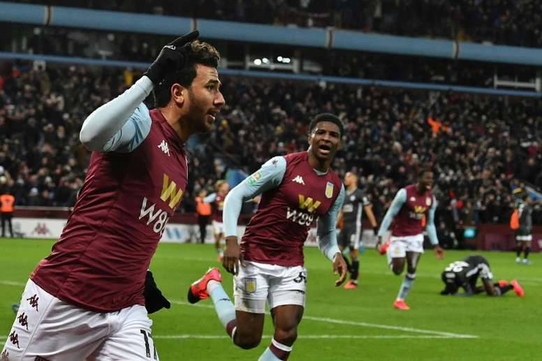 Villa are in the final. AFP