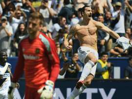 Ibrahimovic scored twice after coming off the bench. AFP