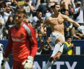 Ibrahimovic a inscrit probablement un des plus beaux buts de sa carrière. AFP