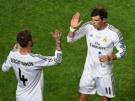 Real Madrids Gareth Bale (R) pictured here with his teammate Sergio Ramos during the 2014 Champions League final against Atletico Madrid