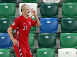 Erling Haaland will not be playing at the Euros next summer. AFP