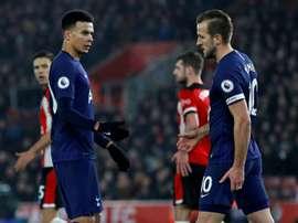 Les joueurs de Tottenham en colère contre le club. AFP