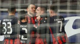 Jovic voit double pour son retour à Francfort. EFE