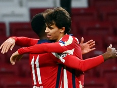 Joao Felix was the hero with a brace for Atletico versus Salzburg. AFP