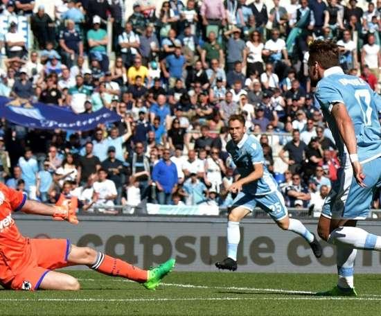 La Lazio a un bon bilan face à la Sampdoria à domicile. AFP