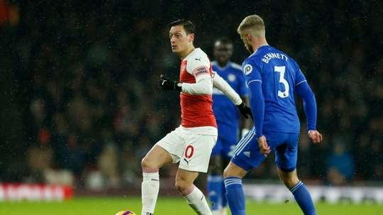O alemão Mesut Özil falou sobre sobre a sua possível saída do clube. AFP