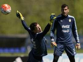 Le joueur qui dispose d'une clause pour rejoindre Messi en Argentine. AFP