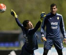 Boca sigue a Nahuel Guzmán. AFP