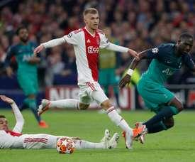 Daley Sinkgraven has joined Bayer Leverkusen from Ajax. AFP