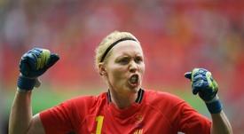 Hedvig Lindahl pasó por quirófano por su rodilla. AFP/Archivo