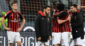 AC Milan will not be playing in the Europa League next season. AFP