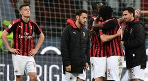 O Milan é excluido da Europa League. AFP