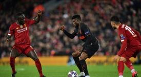 La tenue de Liverpool-Atlético considérée comme une erreur. AFP