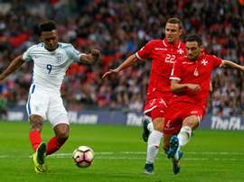Daniel Sturridge (left) scored Englands opening goal against Malta