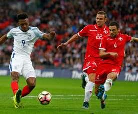 Daniel Sturridge (left) scored Englands opening goal against Malta
